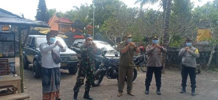 Giat Yustisi PPKM Darurat Covid-19 Desa Mengening  Dihadiri Langsung oleh Satgas Kecamatan