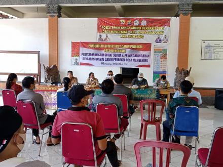Pengundian Nomor Urut Calon Perbekel Desa Mengening Tahun 2021-2027